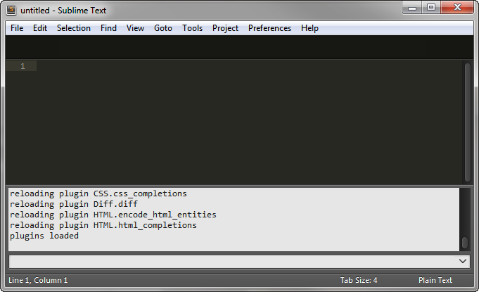 Sublime Text's console